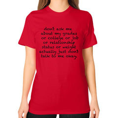 Don't Ask Unisex T-Shirt Red Outfit Made