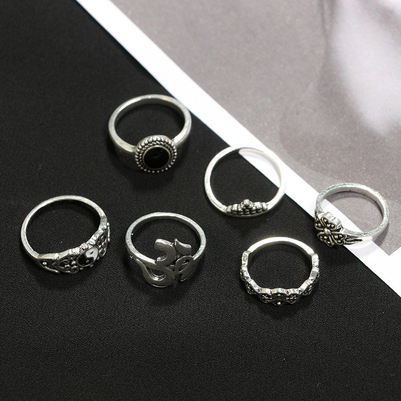 Boho Misty Ring Set