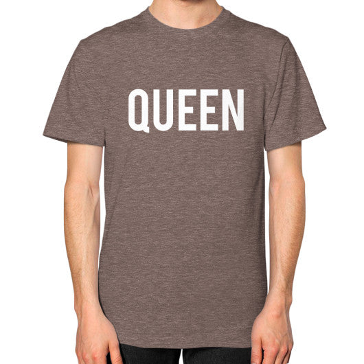 Queen Block Tee Tri-Blend Coffee - Outfit Made