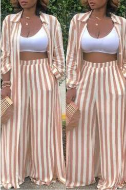 Maxine Striped Pants Set