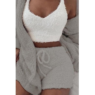 The Cute Fluffy 2 Piece Set