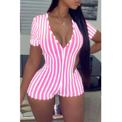 Striped Workout Romper