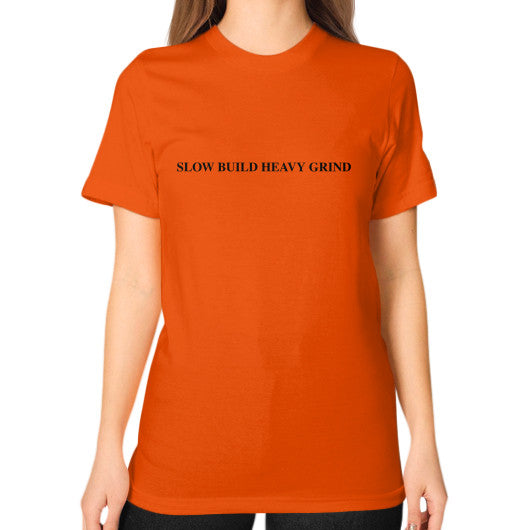Unisex T-Shirt (on woman) Orange Outfit Made
