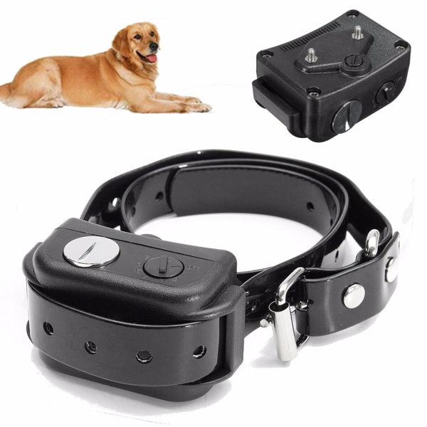 "Dog Bark Collar - waterproof rechargeable collar ""Train Dog Stop Barking"" ultrasonic wave control"