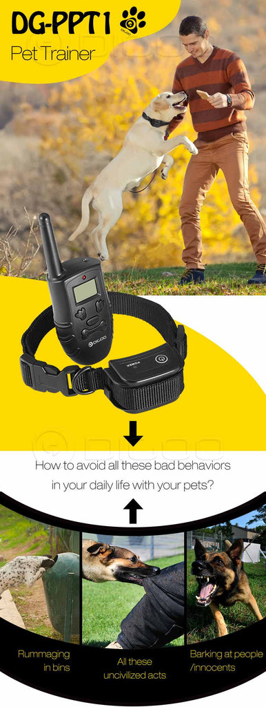 """NO BARK"" Collar Dog Training Collar rechargeable Collar with Remote"