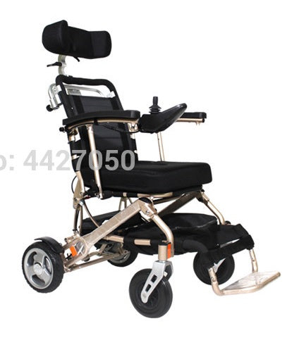 Electric Wheelchair High quality and comfortable with headrest Adjustable height