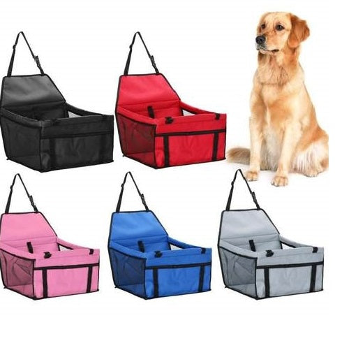 Dog Car Seat Carrier Strong frame-  protects your pets while traveling! Collapsible seatbelt