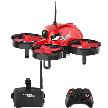 RACING DRONE - E013 Micro FPV RC Drone Quadcopter With 5.8G 1000TVL 40CH Camera VR006 VR-006 3 Inch Goggles - Red With Goggles