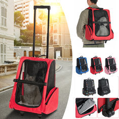 2 in 1 Dog Cat Pet carrier backpack suitcase breathable