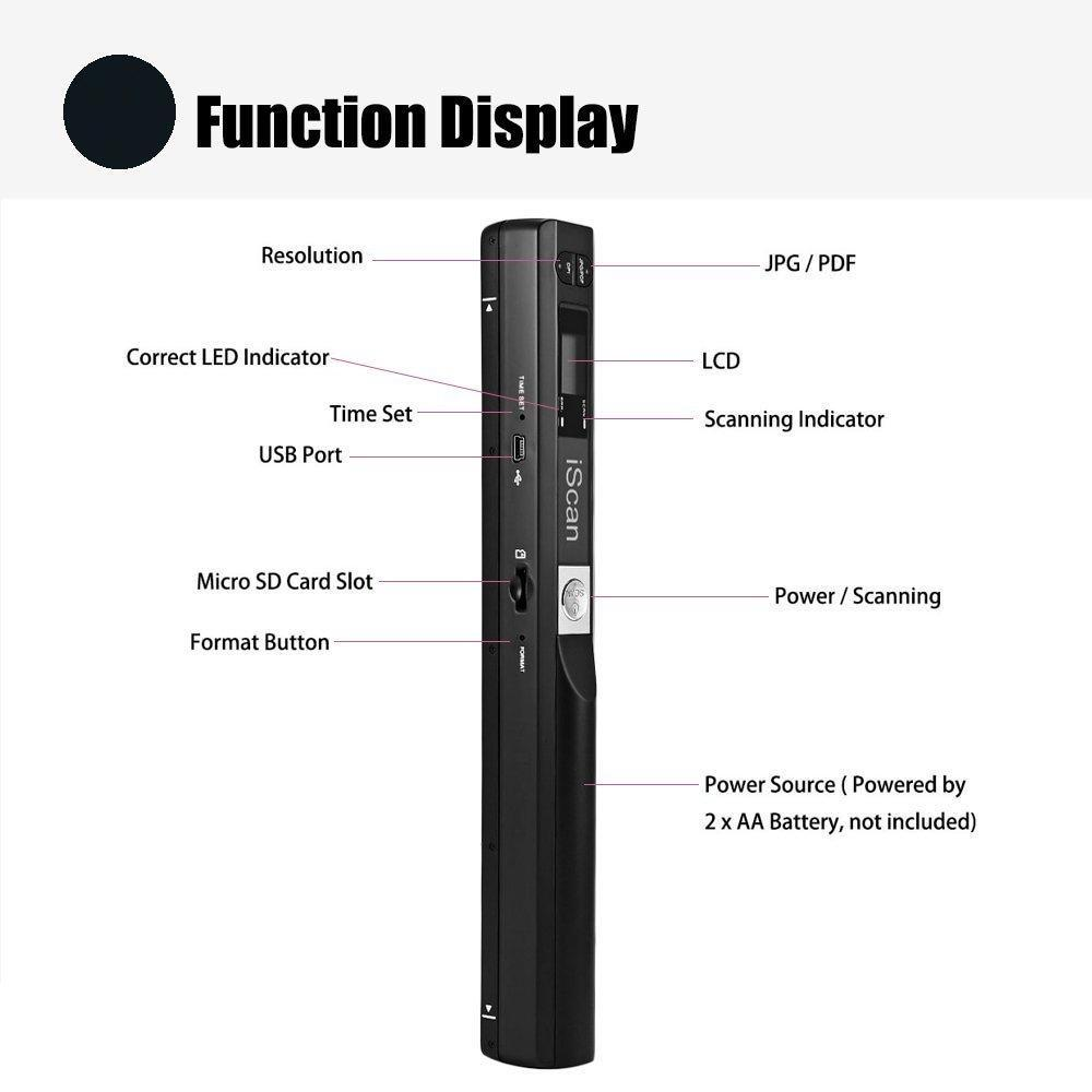 Portable Scanner Pro Wand office document scanner