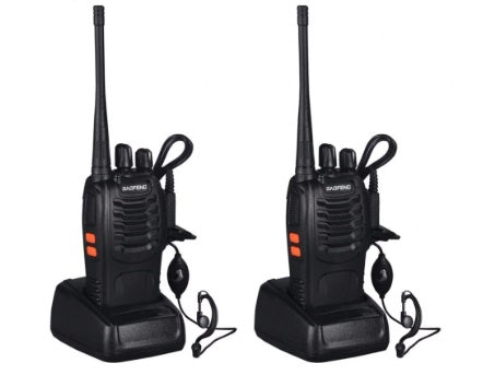 Portable WALKIE TALKIE FM Transceiver Rechargeable 2-way Ham Radio  2pcs VHF/UHF in Two Senses 5W