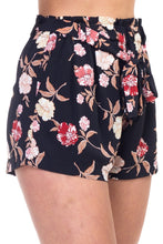 Load image into Gallery viewer, Floral Belted Mini Shorts