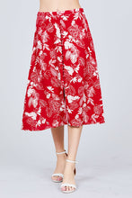 Load image into Gallery viewer, Tulip Sleeve Off The Shoulder Button Down Crop Top And Button Down Midi Skirt Set