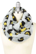 Load image into Gallery viewer, Leopard Print Fur Infinity Scarf