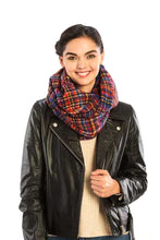 Load image into Gallery viewer, Plaid Print Infinity Scarf