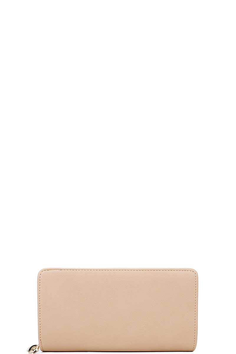 Fashion Solid Color Long Wallet