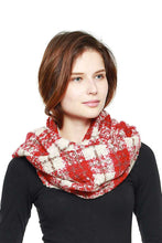 Load image into Gallery viewer, Soft Plaid Infinity Scarf