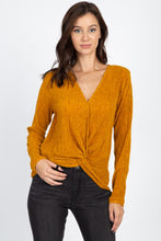 Load image into Gallery viewer, Twist Hem Brushed Knit Top