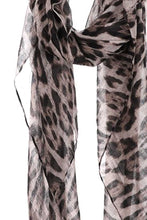 Load image into Gallery viewer, Fashion Leopard Chiffon Scarf