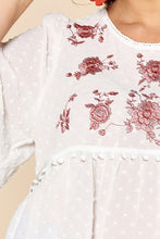 Load image into Gallery viewer, Lace Trimmed Bubble Chiffon Blouse