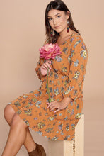 Load image into Gallery viewer, Floral Printed Tiered Wrapped Dress