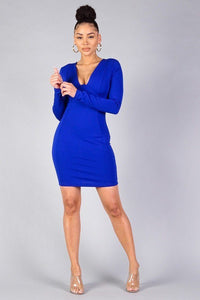 Sexy Long Sleeve Underwire Bodycon Mini Dress