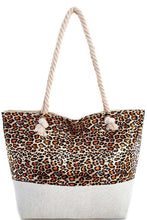Load image into Gallery viewer, Holographic Leopard Print Tote Bag