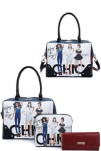 Load image into Gallery viewer, Nikky By Nicole Lee 3in1 Chic Girls Print Satchel Crossbody And Wallet Set