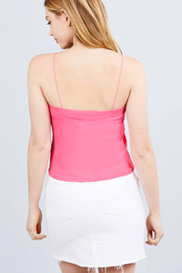 Elastic Strap Heavy Rib Tube Top