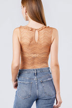Load image into Gallery viewer, Sleeveless Surplice W/ruffle Lace Bodysuit