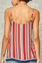 Load image into Gallery viewer, A Multi Stripes Camisole Top