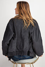 Load image into Gallery viewer, Retro Look Quilted Soft Corduroy Bomber Jacket