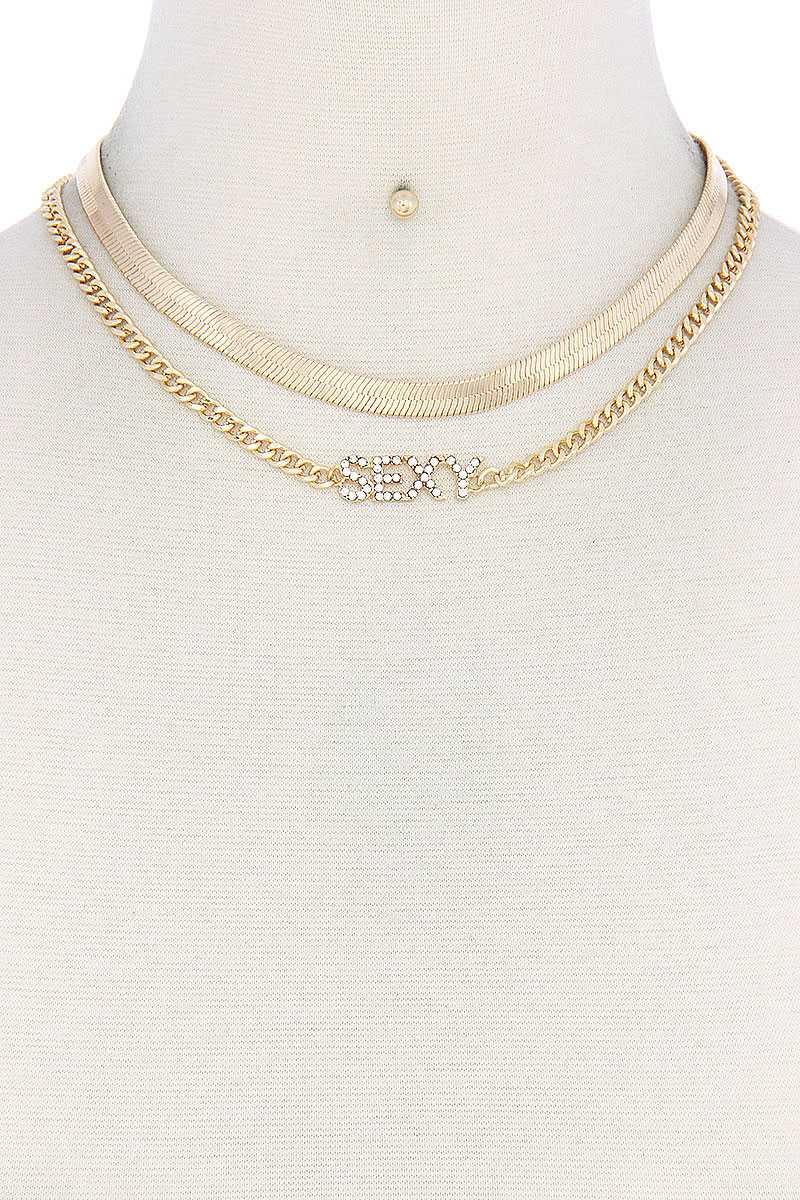 Sexy Flat Snake Chain Necklace