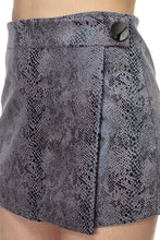 Load image into Gallery viewer, Faux Suede Snake Print Mini Shorts