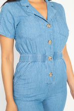 Load image into Gallery viewer, Button Front Elasticized Waist Jumpsuit