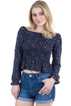 Load image into Gallery viewer, Floral Smocked Off Shoulder Top