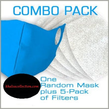 Load image into Gallery viewer, Combo Pack: 1 Random Mask + 5-Pack Filters