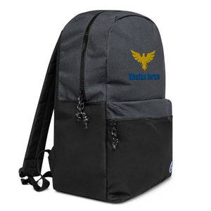 Embroidered Khalsa force Champion Backpack