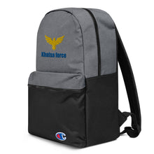 Load image into Gallery viewer, Embroidered Khalsa force Champion Backpack