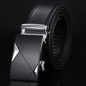 Men's Genuine Leather Automatic Buckle Strap Belt