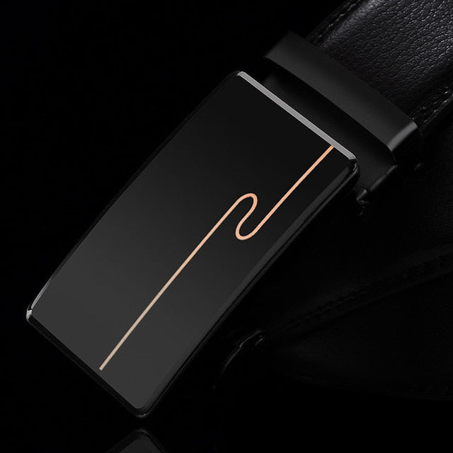 Men's Automatic Buckle Genuine Leather Belt