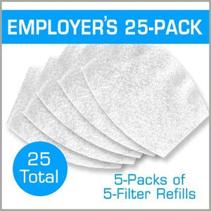 Employers Pack: 25-Pack Filter Refills