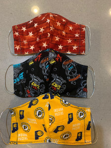 Indiana Pacers stylish Face Mask with Filter Pocket +1 Filter (Made in USA )
