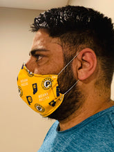 Load image into Gallery viewer, Indiana Pacers stylish Face Mask with Filter Pocket +1 Filter (Made in USA )