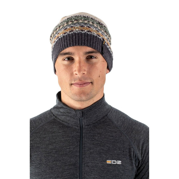EDZ Arran Merino Wool Hat Grey Pattern