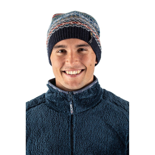 EDZ Arran Design Merino Wool Hat Navy Blue