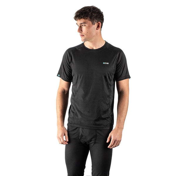 EDZ All Climate Wicking Base Layer Crew T-shirt Black