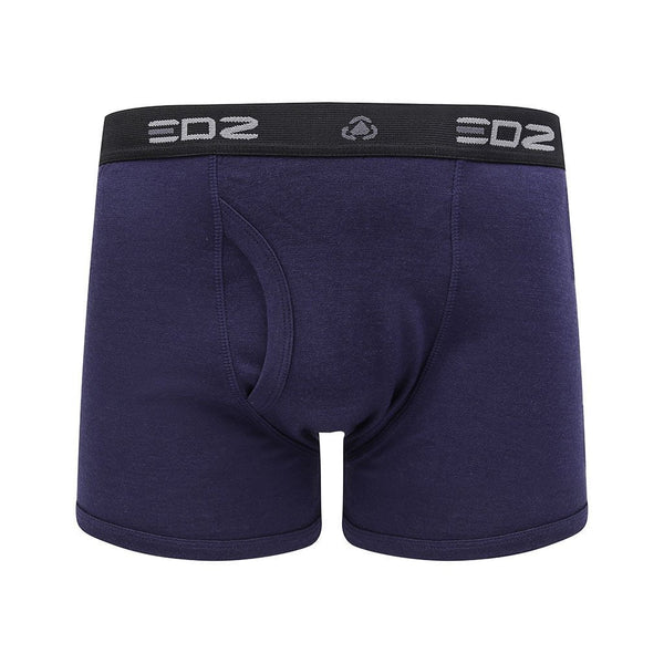 EDZ Merino Wool Boxer Shorts Trunk Underwear Mens Indigo Blue