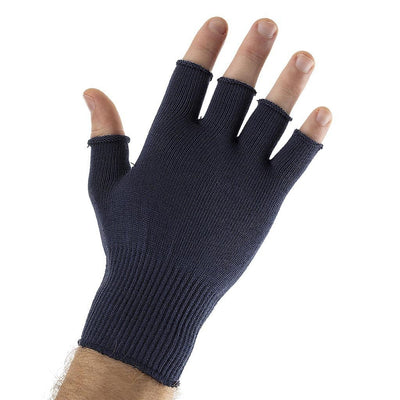 EDZ Silk Fingerless Thermal Gloves Navy Blue