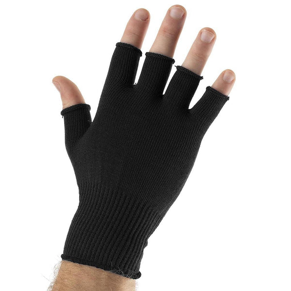 EDZ Silk Fingerless Thermal Gloves Black